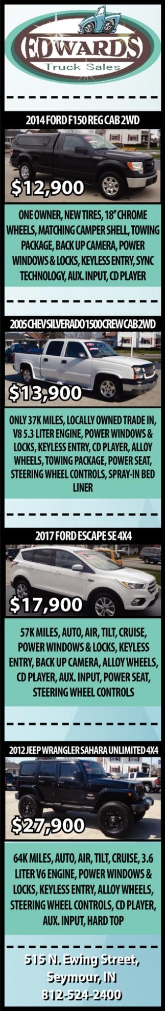 2014 Ford F150 REG CAB 2WD