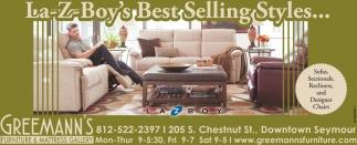La-Z-Boy's Best Selling Styles...