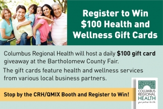 Register To Win $100 Health And Wellness Gift Cards