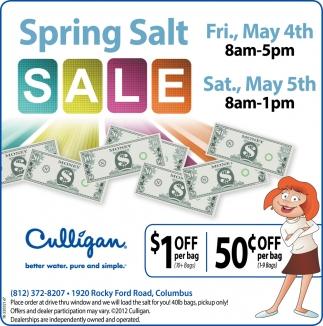 Spring Salt Sale