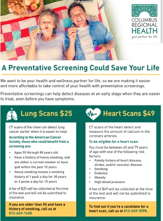 A Preventive Screening Could Save Your Life