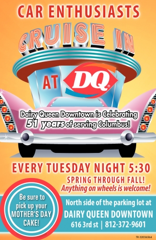 Car Enthusiasts Cruise In At DQ