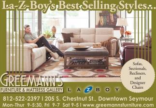 La Z Boyu0027s Best Selling Styles..., Greemannu0027s Furniture And Mattress Gallery,  Seymour, IN