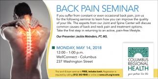 Back Pain Seminar