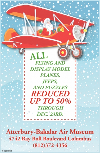 All Flying And Display Model Planes, Jeeps And Puzzles Reduced Up To 50%