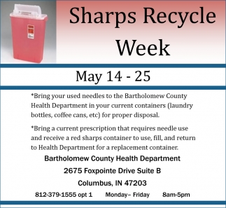 Sharps Recycle Week
