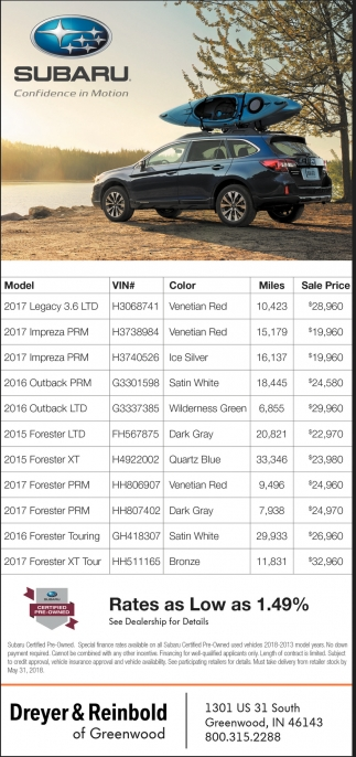 Dreyer Reinbold Subaru >> Dreyer Reinbold Subaru 2020 Top Car Release And Models