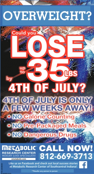 Could You Lose Up To 35 lbs By 4th Of July?