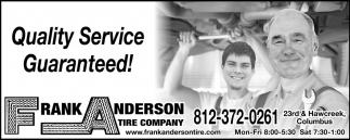 Quality Service Guaranteed!