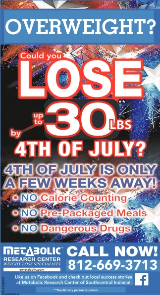 Could You Lose Up To 30 lbs By 4th Of July?