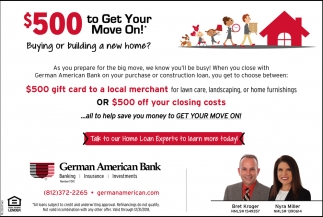 $500 To Get Your Move On!