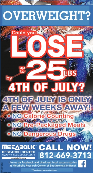 Could You Lose Up To 25 lbs By 4th Of July?