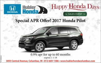 Happy Honda Days Sales Event