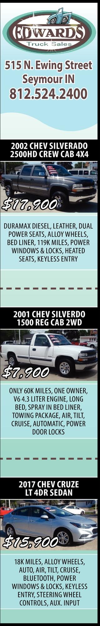 2002 Chev Silverado 2500HD Crew Cab 4x4