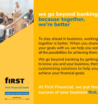 We Go Beyond Banking Because Together, We're Better