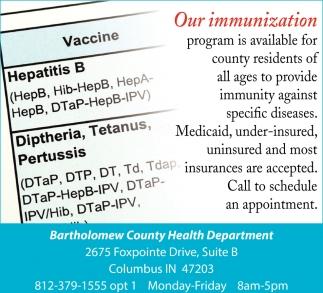 Our Immunization