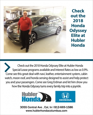 Check Out The 2018 Honda Odyssey Elite At Hubler Honda