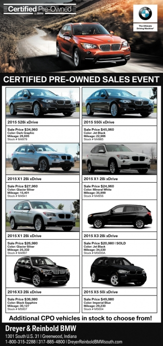 Dreyer And Reinbold Bmw >> Certified Pre Owned Sales Event Dreyer And Reinbold Bmw