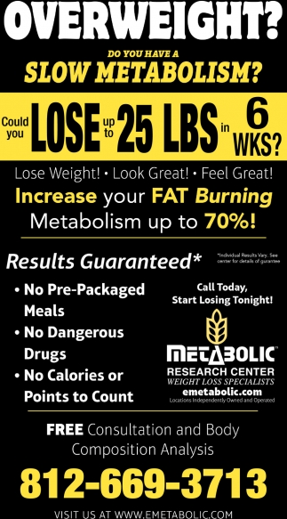 Overweight? Do You Have A Slow Metabolism?