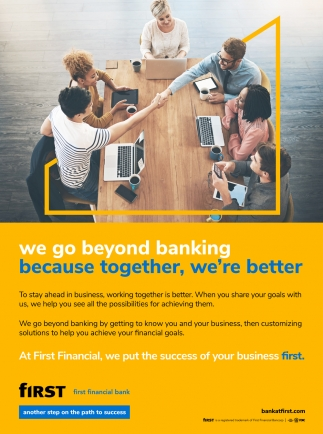 We Go Beyond Banking Because Together We Re Better First