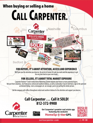 When Buying Or Selling A Home Call Carpenter.