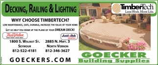 Decking, Railing And Lighting