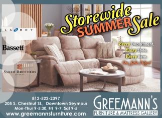 Merveilleux Storewide Summer Sale, Greemannu0027s Furniture And Mattress Gallery, Seymour,  IN