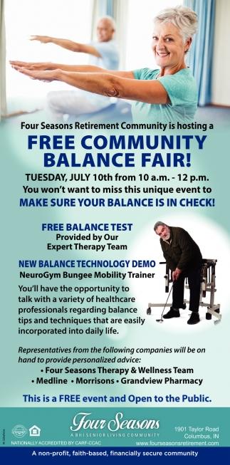 Free Community Balance Fair!