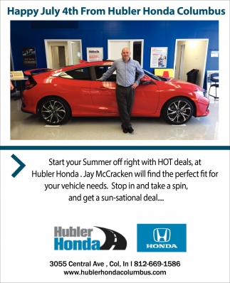 Happy July 4th From Hubler Honda Columbus