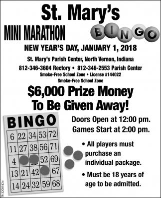 Mini Marathon - Bingo