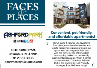 Convenient, Pet Friendly, And Affordable Apartments!