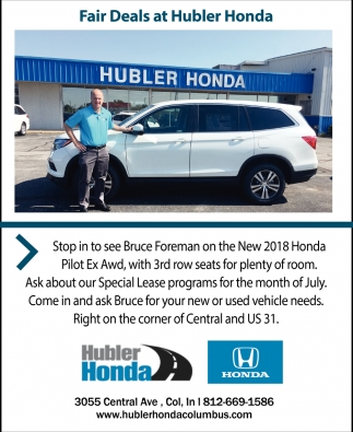 Fair Deals At Hubler Honda