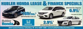 Hubler Honda Lease And Finance Specials