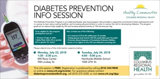 Diabetes Prevention Info Session