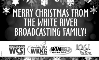 Merry Christmas From The White River Broadcasting Family