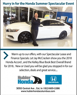 Hurry In For The Honda Summer Spectacular Event
