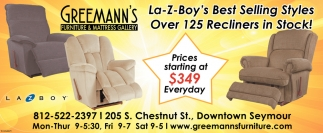 La-Z-Boy's Best Selling Styles