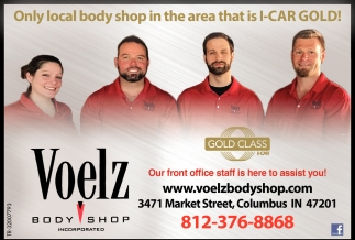 Only Local Body Shop In The Area That Is I-Car Gold