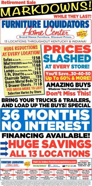 Retirement Sale Markdowns Furniture Liquidators Fairdale Ky