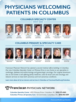 Physicians Welcoming Patients In Columbus