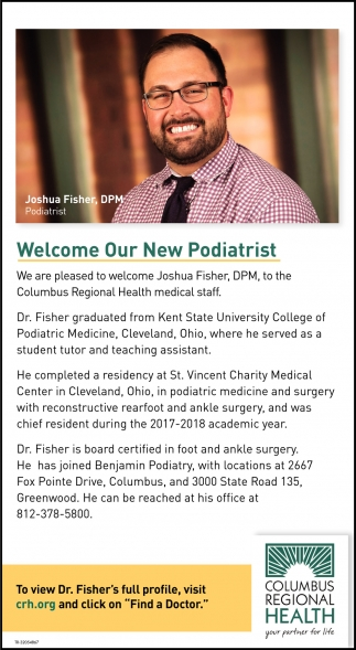 Welcome Our New Podiatrist