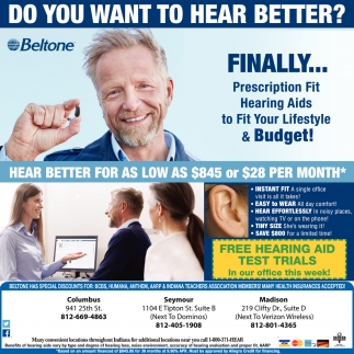 Do You Want To Hear Better?