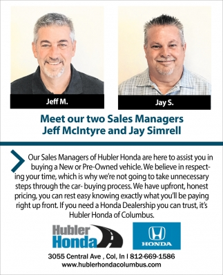 Meet Our Two Sales Managers