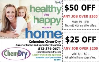 Healthy Plus Happy Equals Home