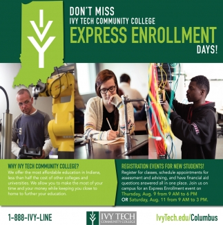 Don't Miss Ivy Tech College Express Enrollment
