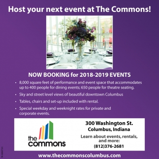 Host Your Next Event At The Commons!