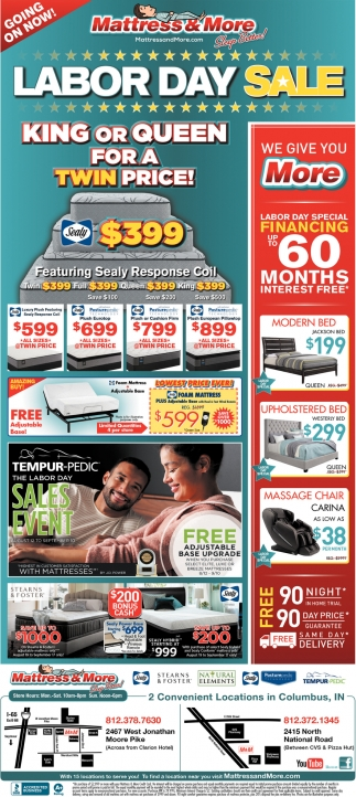 Labor Day Sale Mattress And More Columbus In