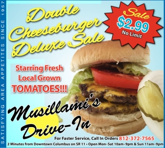 Double Cheeseburger Deluxe Sale