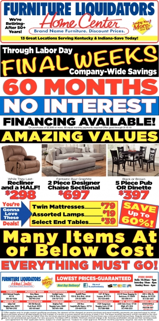 Brand Name Furniture. Discount Prices.