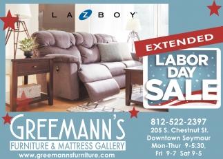 Labor Day Sale Greemann S Furniture And Mattress Gallery Seymour In